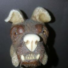 Antigüedades: PERRO MADERA. Lote 169100817