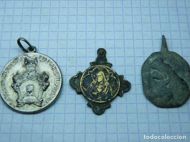 LOTE DE MEDALLAS N 4. (ELCOFREDELABUELO) (Antigüedades - Religiosas - Medallas Antiguas)