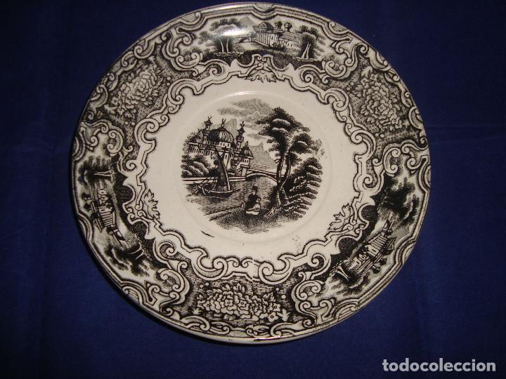 PLATO PICKMAN LA CARTUJA DE SEVILLA SERIE VISTAS (Antigüedades - Porcelanas y Cerámicas - La Cartuja Pickman)