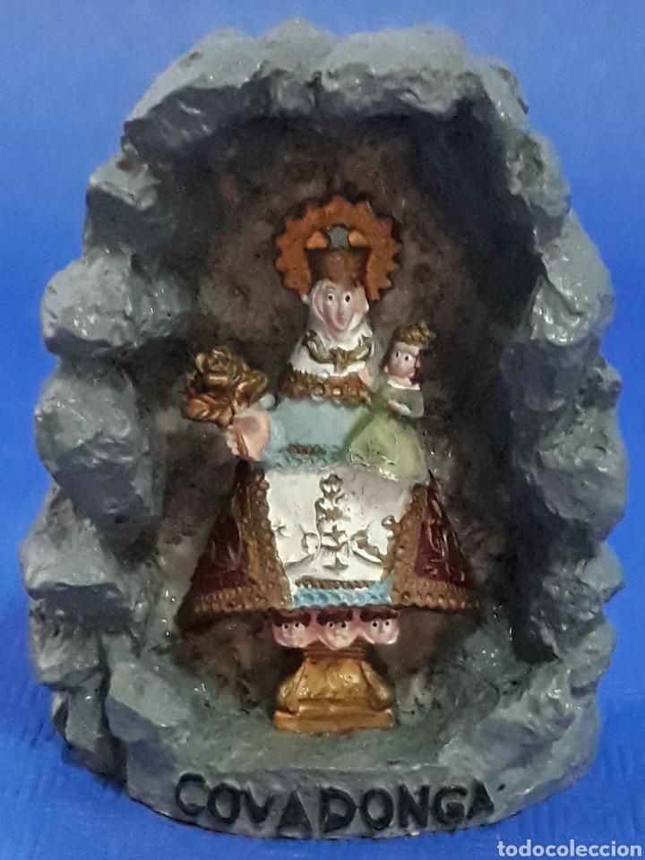 FIGURA VIRGEN DE COVADONGA (Antigüedades - Hogar y Decoración - Figuras Antiguas)