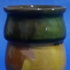 Antigüedades: BARRO COCIDO COPA VIDRIADA Y ESMALTADA. Lote 169127772