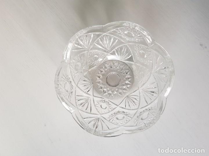 CUENCO REDONDO DE CRISTAL CHECO BOHEMIA TALLADO A MANO (Antigüedades - Cristal y Vidrio - Bohemia)