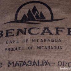 Antigüedades: CAFE DE NICARAGUA, BUENCAFE. SACO DE ARPILLERA. Lote 169151258