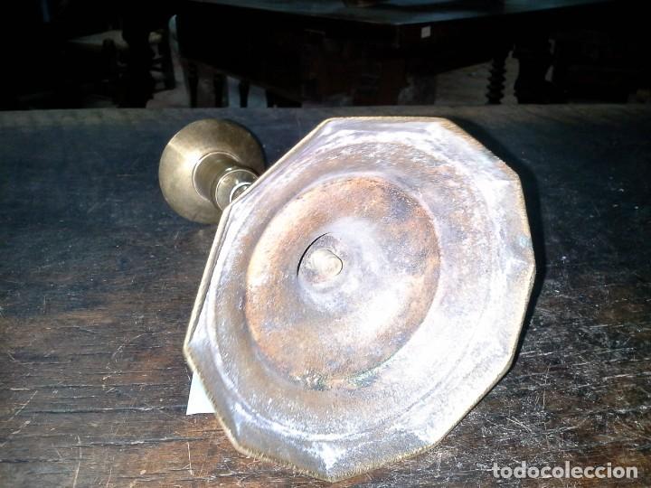 Antigüedades: CANDELABRO DE METAL - Foto 6 - 169155456
