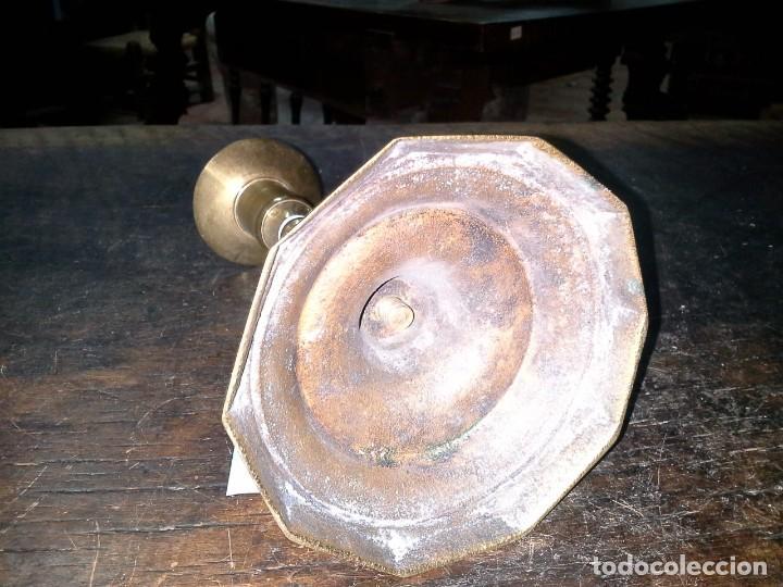 Antigüedades: CANDELABRO DE METAL - Foto 7 - 169155456