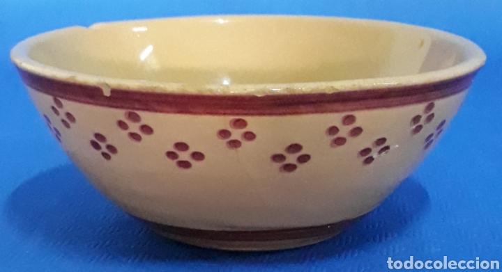 CERAMICA CUENCO VIDRIADO Y ESMALTADO (Antigüedades - Porcelanas y Cerámicas - Otras)