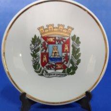 Antigüedades: CERAMICA PLATO DECORADO ESCUDO CIUDAD DE CARTAGENA. Lote 169167881