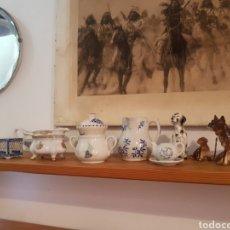 Antigüedades: LOTE CERÁMICO PORCELANA. BOXER. SALSERA. CESTA. JOYERO..... Lote 169170484