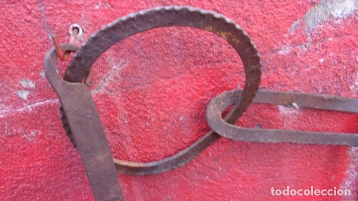 Antigüedades: antiguo llar,hierro,forja,siglo XVIII,eslabones labrados exterior - Foto 6 - 169195104