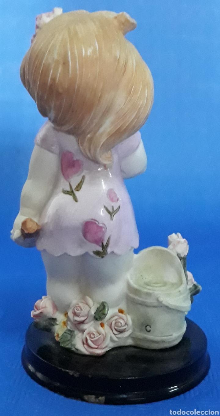 Antigüedades: Figura niña en el jardin - Foto 2 - 169200600