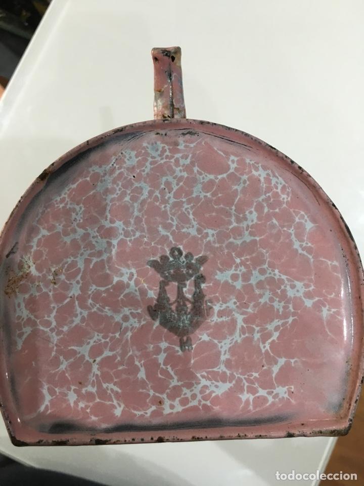 Antigüedades: JARRA METALICA ESMALTADA ANTIGUA A IDENTIFICAR - Foto 10 - 169204697