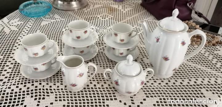 JUEGO DE CAFÉ SANTA CLARA ANTIGUO. 6 SERVICIOS. (Antigüedades - Porcelanas y Cerámicas - Santa Clara)