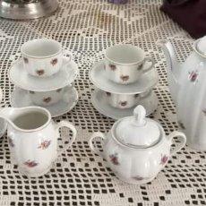 Antigüedades: JUEGO DE CAFÉ SANTA CLARA ANTIGUO. 6 SERVICIOS.. Lote 163794434