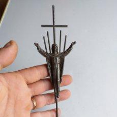 Antigüedades: UN CRISTO EN BASE DE MARMOL O ALABASTRO. Lote 169212794