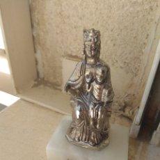 Antigüedades: IMAGEN DE METAL NUESTRA SEÑORA DE LEYRE - VIRGEN DE LEYRE -. Lote 169213796