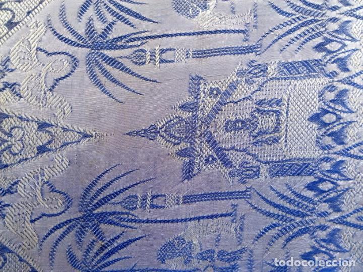 Antigüedades: colcha damasquina sigloXX - Foto 2 - 169215476