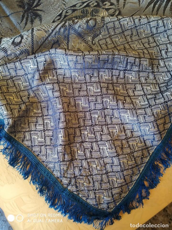 Antigüedades: colcha damasquina sigloXX - Foto 4 - 169215476