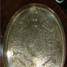 Antigüedades: BANDEJA SILVER PLATE- INGLESA S.XIX-. Lote 169222392