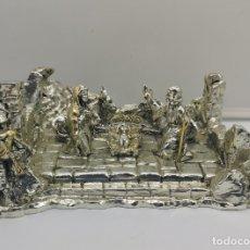 Antigüedades: BELLO BELÉN VINTAGE LAMINADO EN PLATA DE LEY 925 .. Lote 169225000