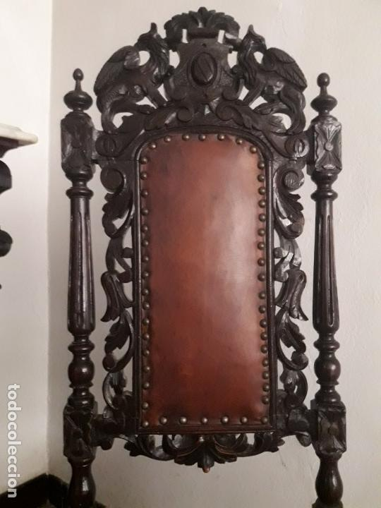 Antigüedades: MESA ISABELINA DE CAOBA TALLADA Y 6 SILLAS. (1850-1860) - Foto 22 - 146460126