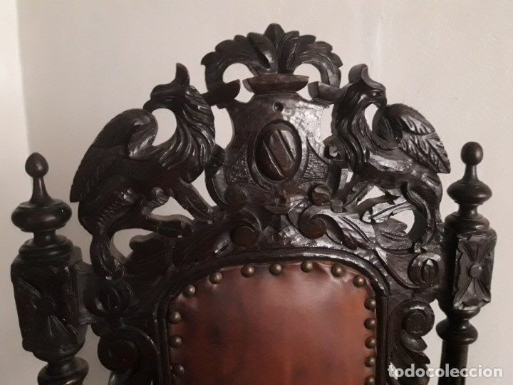 Antigüedades: MESA ISABELINA DE CAOBA TALLADA Y 6 SILLAS. (1850-1860) - Foto 23 - 146460126