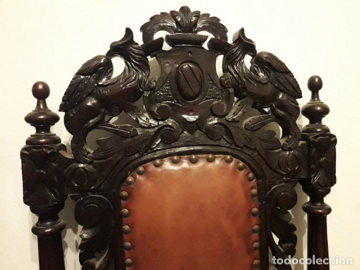 Antigüedades: MESA ISABELINA DE CAOBA TALLADA Y 6 SILLAS. (1850-1860) - Foto 32 - 146460126