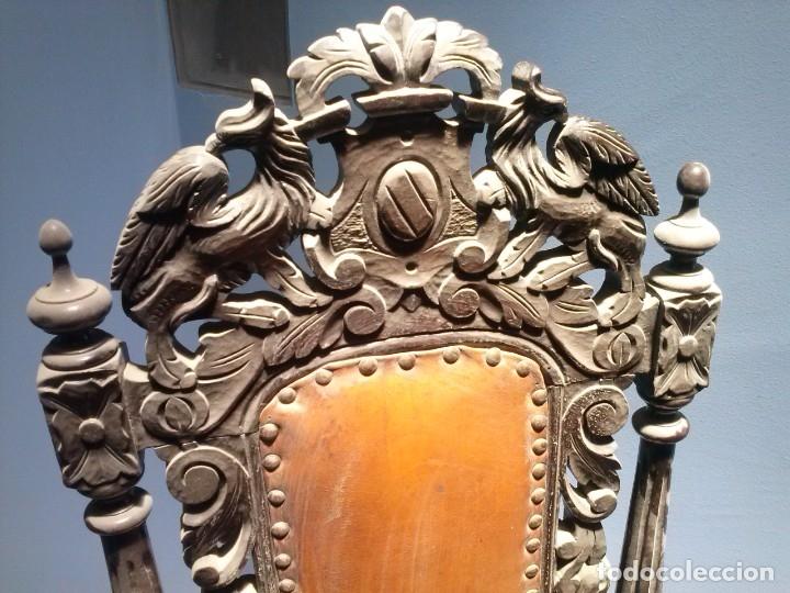 Antigüedades: MESA ISABELINA DE CAOBA TALLADA Y 6 SILLAS. (1850-1860) - Foto 36 - 146460126