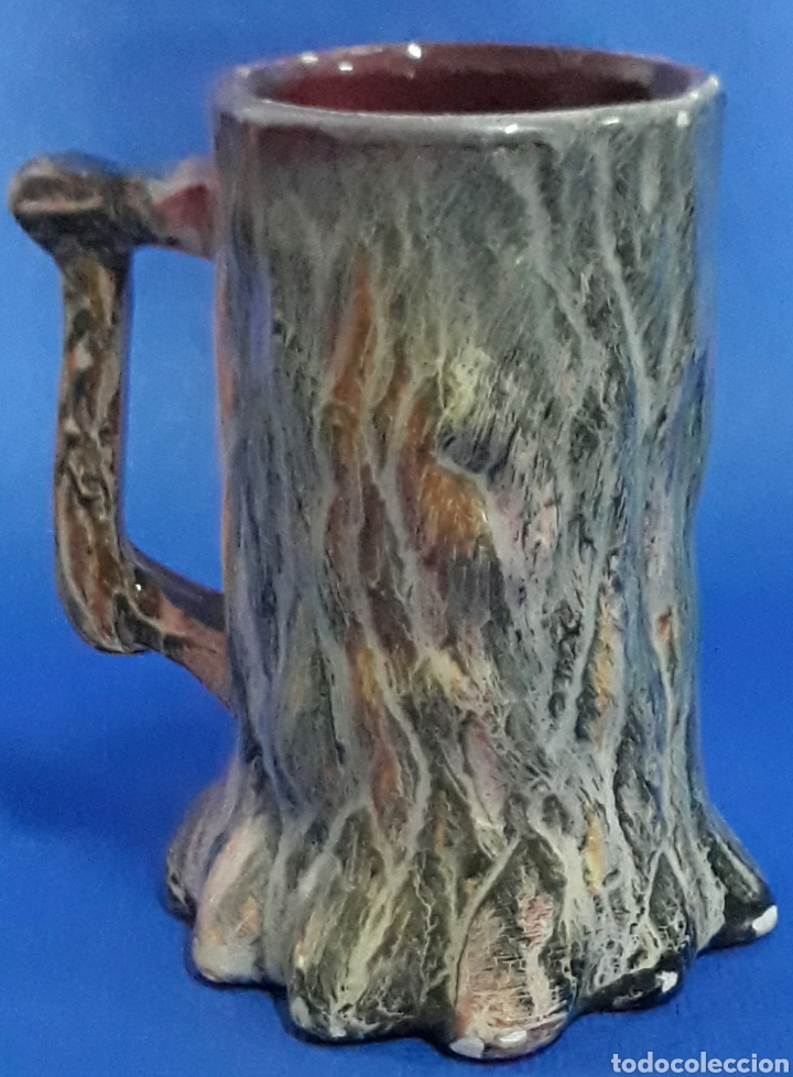 CERAMICA JARRA DECORADA ARBOL (Antigüedades - Porcelanas y Cerámicas - Otras)