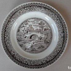 Antigüedades: 4 PLATOS DE PORCELANA VARGAS SEGOVIA. Lote 169300708