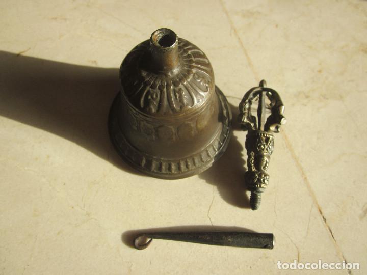 Antigüedades: ANTIGUA CAMPANA DE BRONCE CON GRABADOS - Foto 7 - 169315268