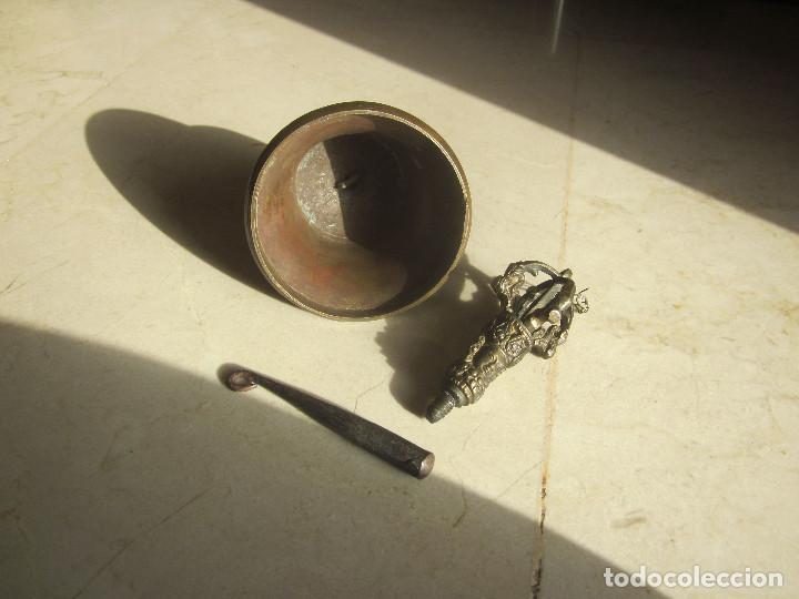 Antigüedades: ANTIGUA CAMPANA DE BRONCE CON GRABADOS - Foto 9 - 169315268