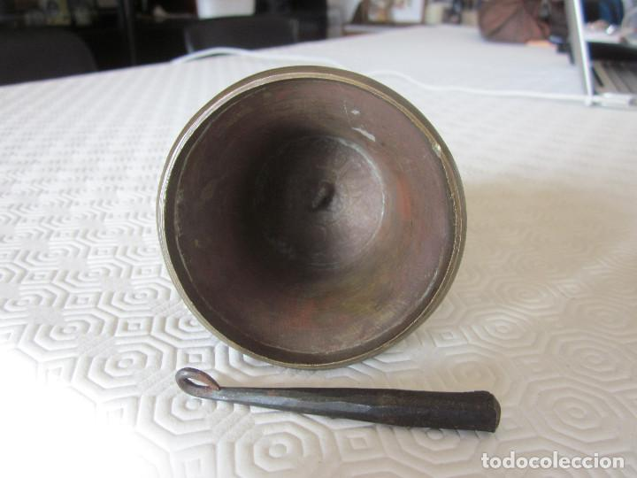 Antigüedades: ANTIGUA CAMPANA DE BRONCE CON GRABADOS - Foto 10 - 169315268