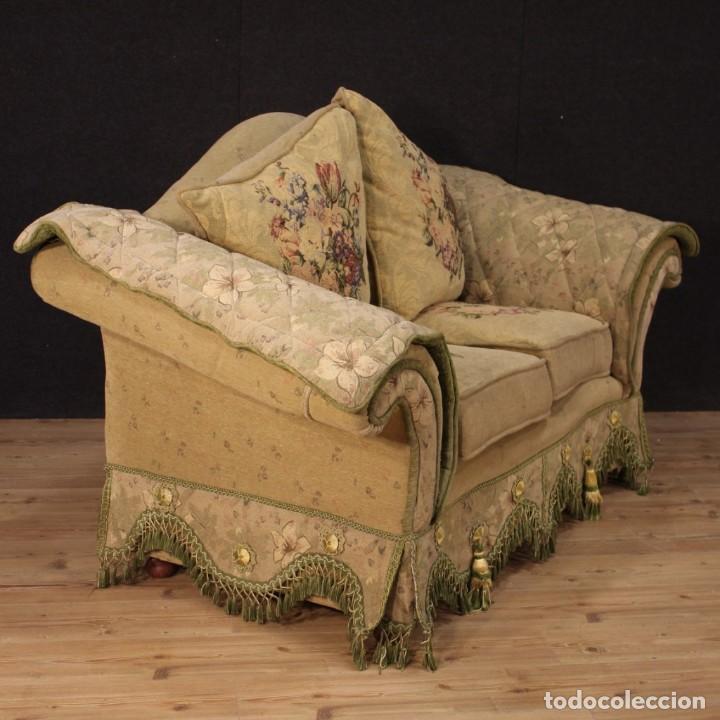 Antigüedades: Sofá francés de tela con decoraciones florales - Foto 3 - 169315608