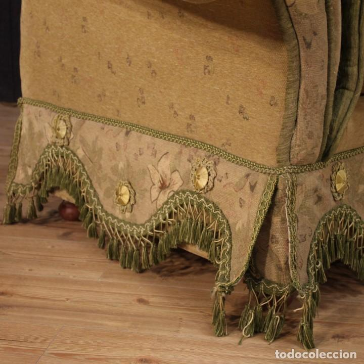 Antigüedades: Sofá francés de tela con decoraciones florales - Foto 4 - 169315608