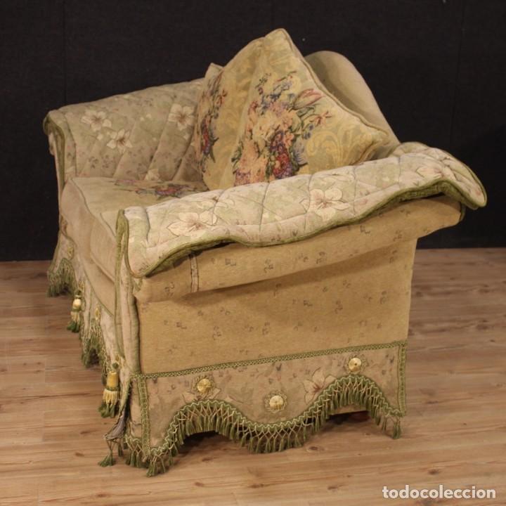 Antigüedades: Sofá francés de tela con decoraciones florales - Foto 6 - 169315608