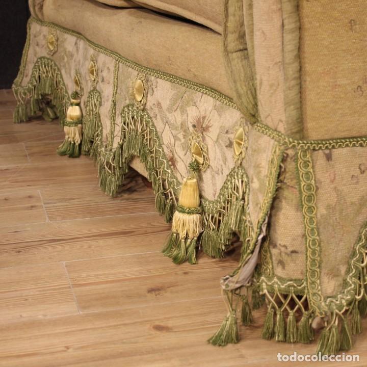 Antigüedades: Sofá francés de tela con decoraciones florales - Foto 8 - 169315608