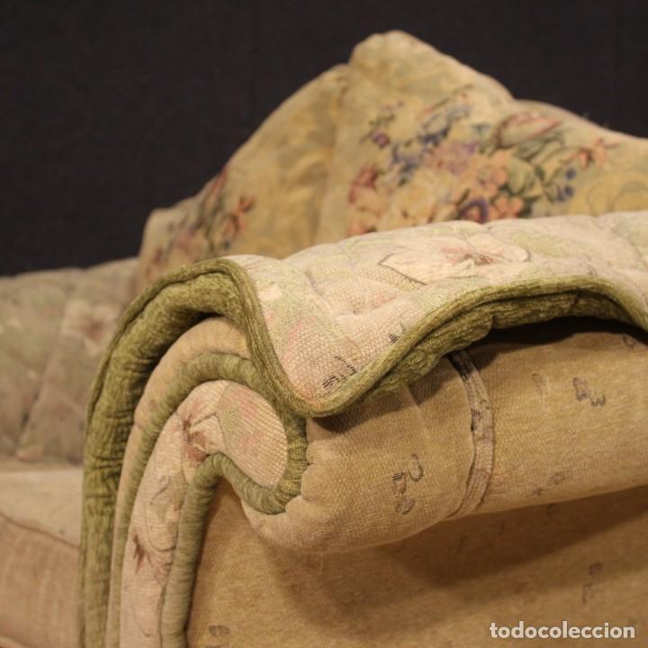 Antigüedades: Sofá francés de tela con decoraciones florales - Foto 9 - 169315608