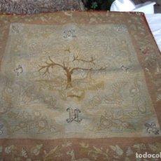 Antigüedades: TAPIZ SIGLO XVIII HECHO A MANO. Lote 169334976