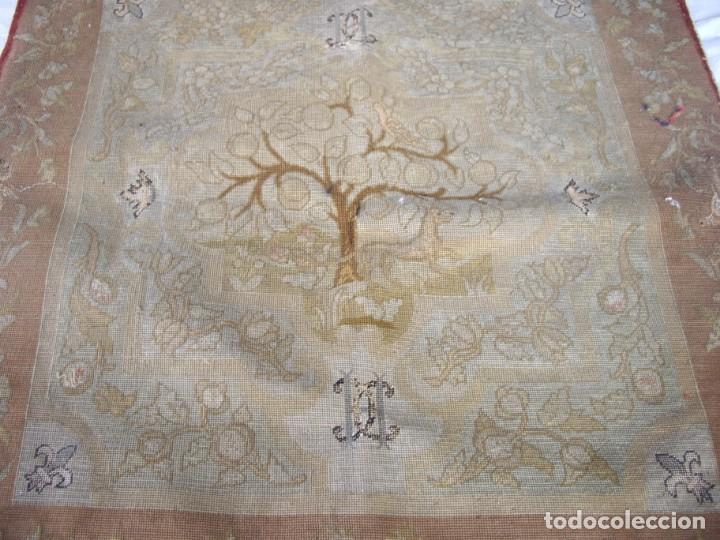Antigüedades: tapiz siglo xviii hecho a mano - Foto 3 - 169334976