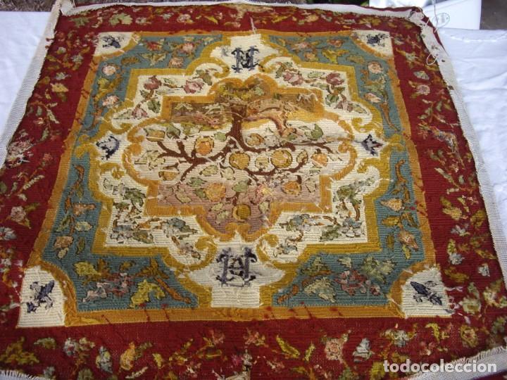 Antigüedades: tapiz siglo xviii hecho a mano - Foto 4 - 169334976