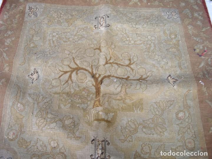 Antigüedades: tapiz siglo xviii hecho a mano - Foto 5 - 169334976