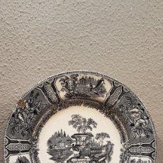Antigüedades: PLATO DE LA REAL FÁBRICA DE SARGADELOS DEL SIGLO XIX DE LA TERCERA ÉPOCA. Lote 169358472