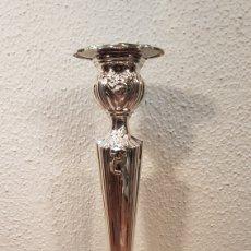 Antigüedades: CANDELERO / CANDELABRO DE PLATA FIRMADA PEDRO DURÁN.. Lote 169359768
