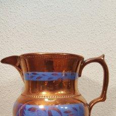 Antigüedades: JARRA DE LOZA VIDRIADA INGLESA DEL SIGLO XIX. BRISTOL.. Lote 169359985