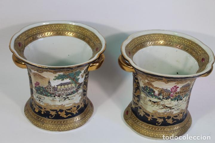 Antigüedades: pareja de jarrones chinos - Foto 3 - 169364778