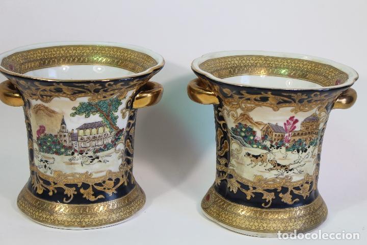 Antigüedades: pareja de jarrones chinos - Foto 4 - 169364778