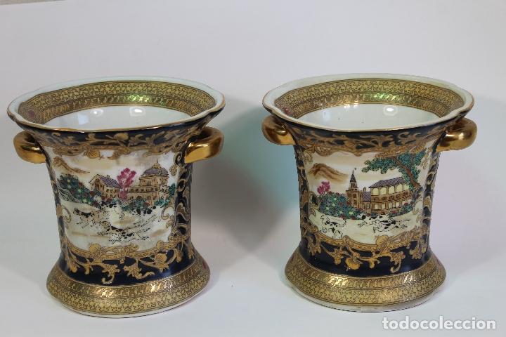 Antigüedades: pareja de jarrones chinos - Foto 6 - 169364778