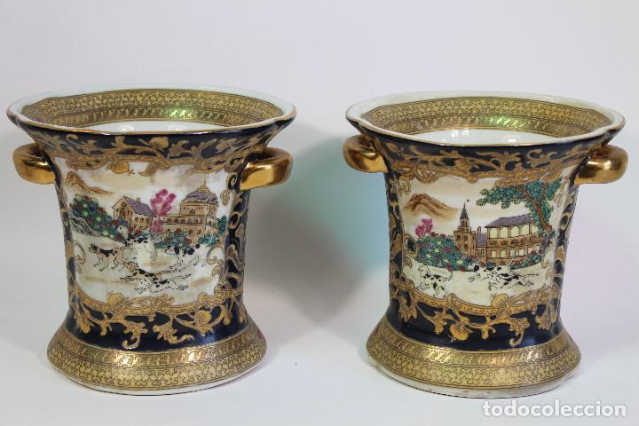 PAREJA DE JARRONES CHINOS (Antigüedades - Porcelanas y Cerámicas - Otras)