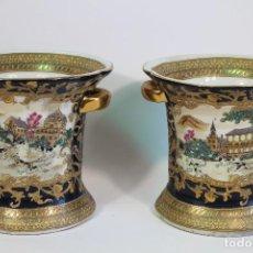 Antigüedades: PAREJA DE JARRONES CHINOS. Lote 169364778