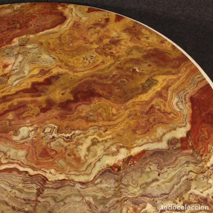 Antigüedades: Mesa redonda italiana lacada y dorada en estilo Luis XVI. - Foto 6 - 169385672
